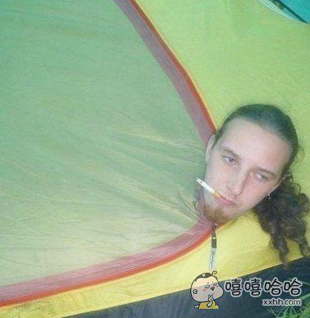 媳妇不让在帐篷里抽烟