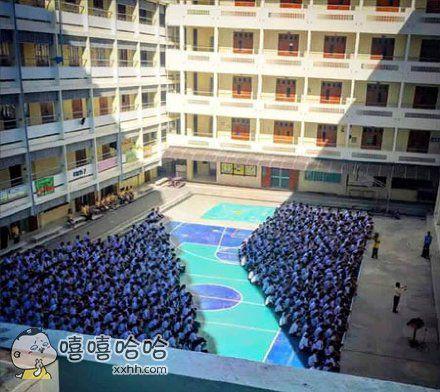 泰国某校的朝会