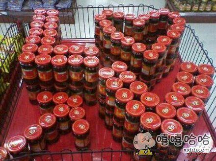 超市大妈的爱,是不是很创意啊