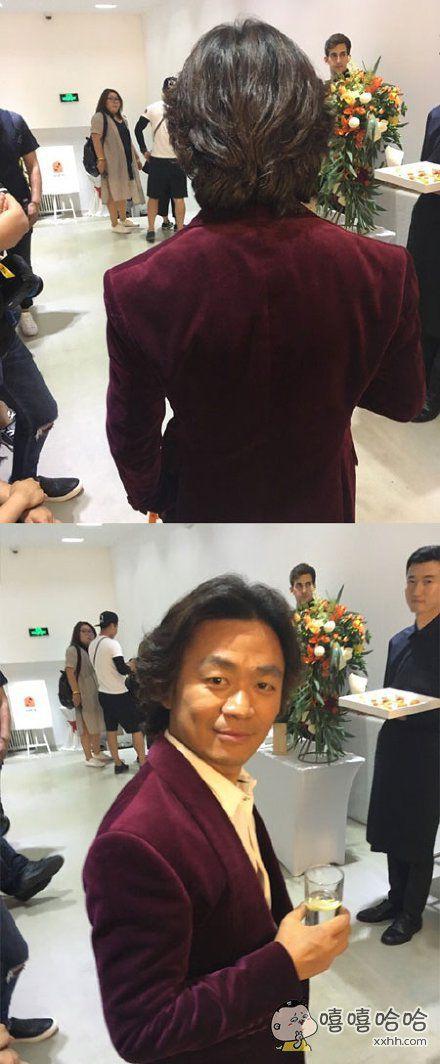 见到李咏老师,正在想要不要去打扰他。