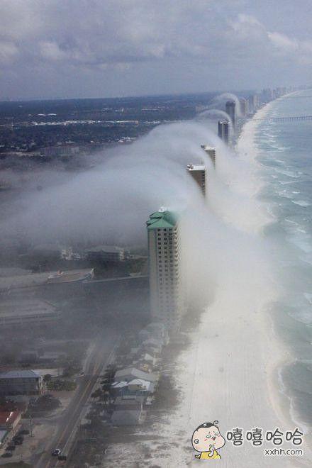看了这幅照片你知道住海景房是有多么不靠谱了吧!