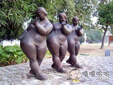 让人哭笑不得的生活雕塑