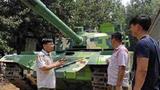 中国农民自制1比1仿真99式坦克