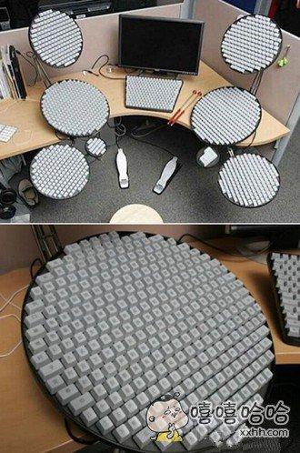 外国人做的键盘,每个键都是中国字,碉堡了