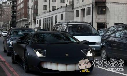 我想车主一定是个牙齿不好看的骚年吧!
