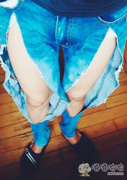 最新款私人订制破洞裤