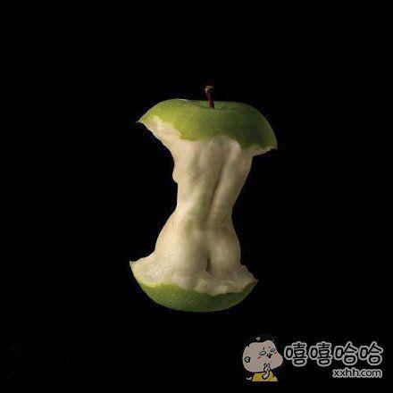 苹果吃出来的艺术作品