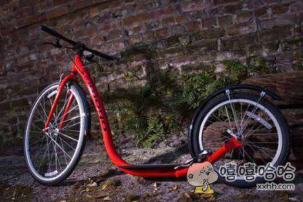 自行车有这个样子的吗?怎么个骑法?