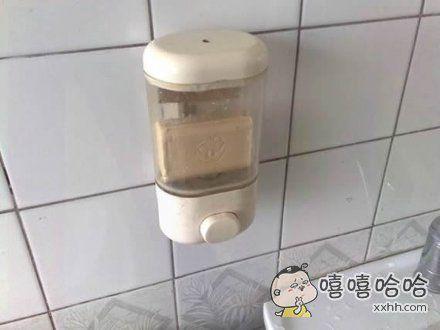 在某宾馆洗澡,不知道为什么洗手液总是挤不出来。