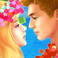 沙滩情侣接吻