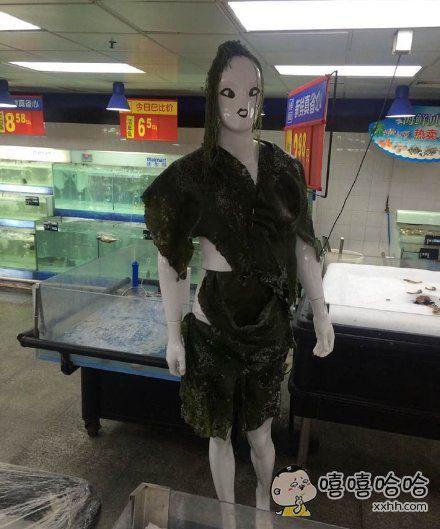 商场大妈为了卖海带真是操白了头,用尽了心…