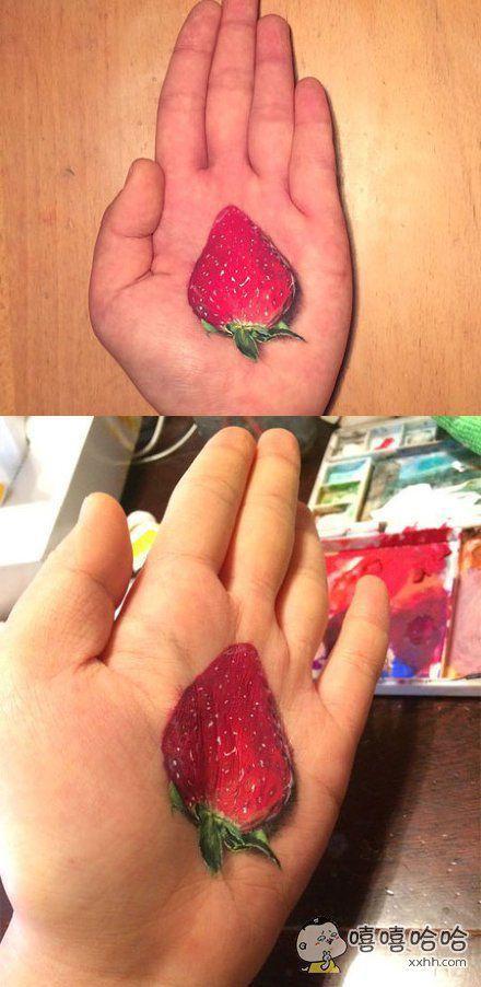 来,请吃了这颗草莓