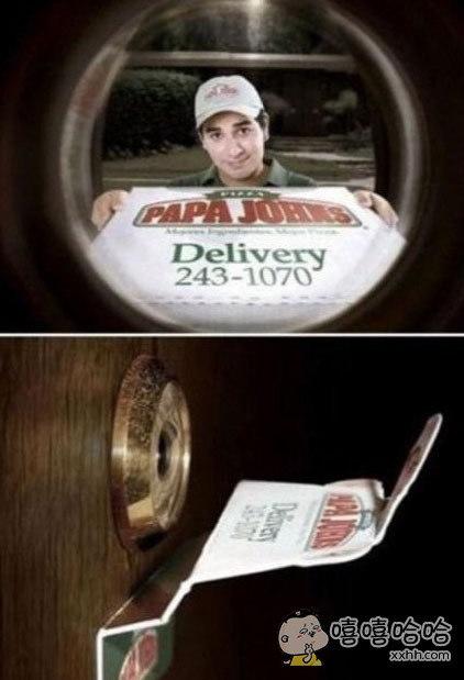 一直以为有人送披萨的猫眼