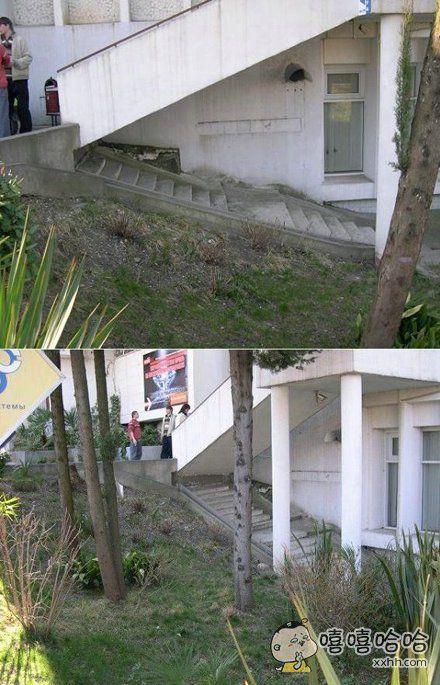 这楼梯,可就尴尬了