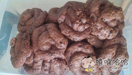 女朋友做的曲奇饼干