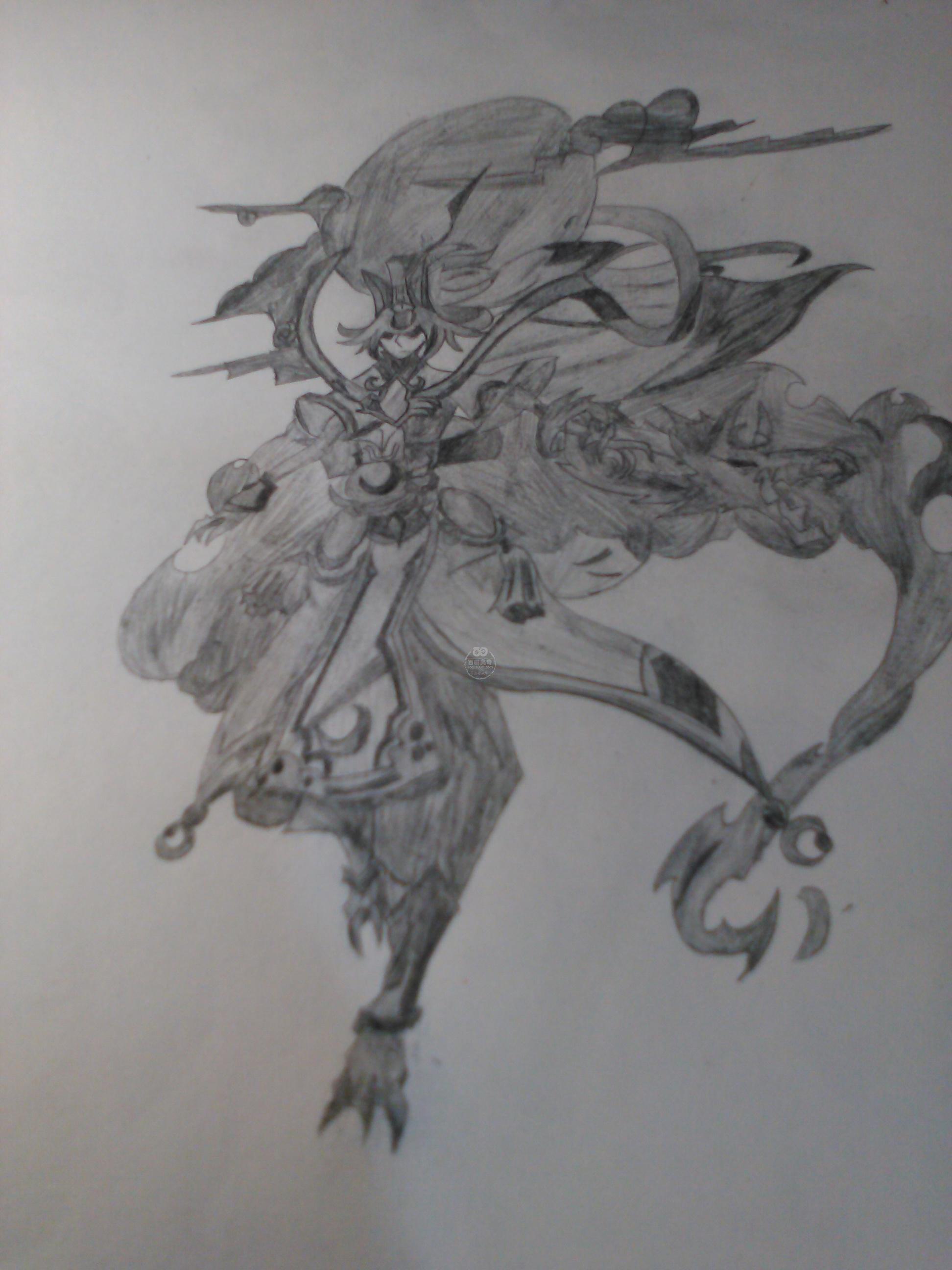 奥奇传说手绘 灵风