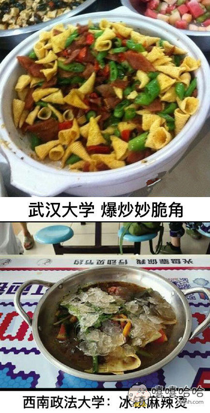大学食堂的奇葩菜