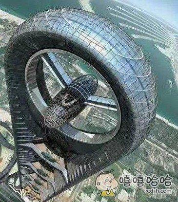 好奇葩的建筑,不是轮胎呀