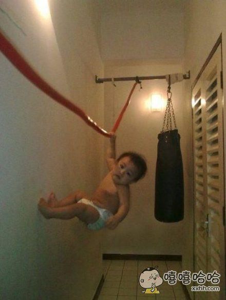 从小就这么能锻炼