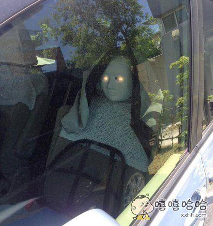 看到老爸的车,被他的防盗手法吓尿了…