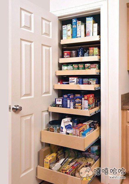 一打开,全是抽屉,抽屉里全是吃的,我也想要一个这样的柜子!