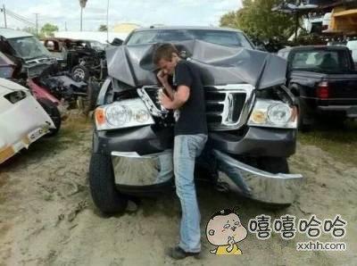 不小心脚滑了一下,现在车主要我赔钱,怎么办??