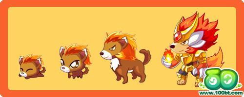 动物大全 烈焰小火狼变异