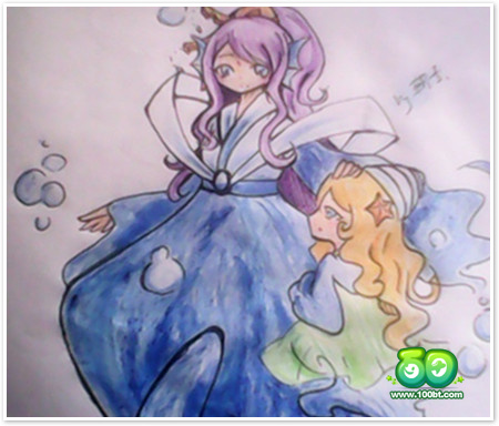 龙斗士海洋女神 铅笔手绘