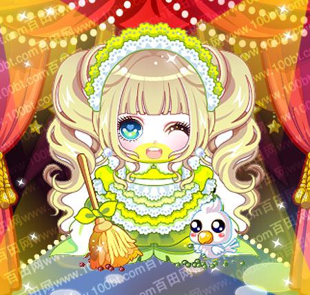 奥比岛 奥比服饰 奥比岛服装图鉴勤劳灰姑娘装  包含部件 灰姑娘可爱