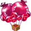石榴热气球袋