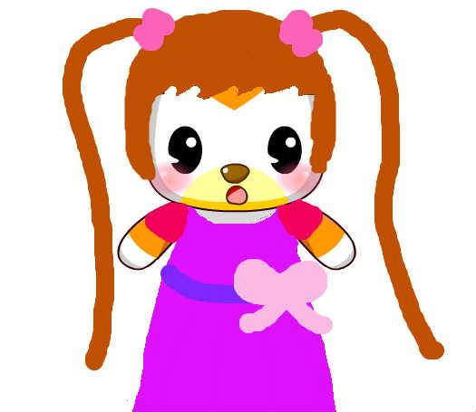 可爱小女孩_百田涂鸦板