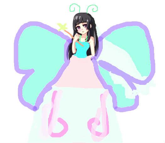简笔画 蝴蝶仙子内容图片展示