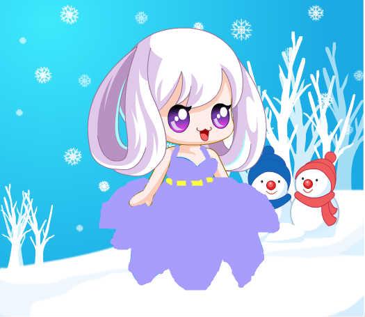 冬日紫衣仙女图片