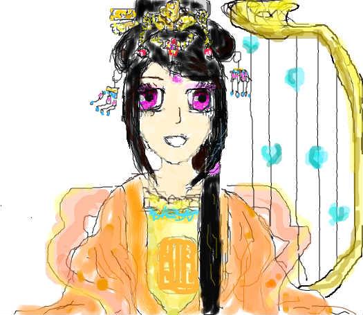 动漫古装仙女美女手绘