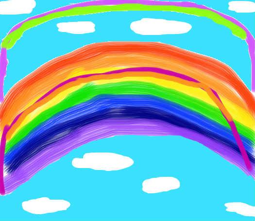 自制彩虹书皮封面设计