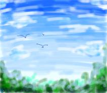 藍天^q^