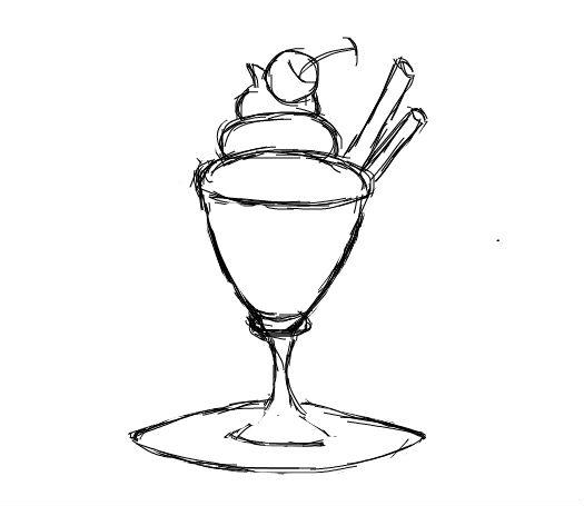 儿童简笔画:冰淇淋acorn 简笔画图片