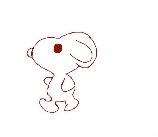 可爱间笔画史努比