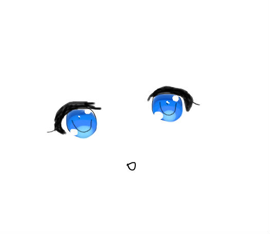 可爱的眼睛吖~~_百田涂鸦板
