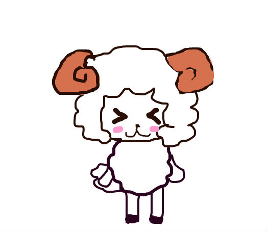 彩泥手工制作白羊