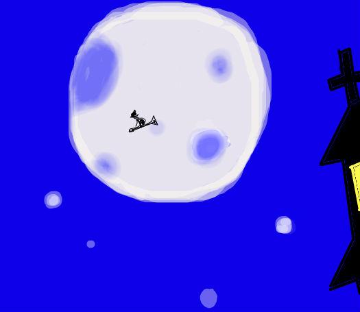 鼠标涂鸦4 夜空 好像儿童简笔画TAT