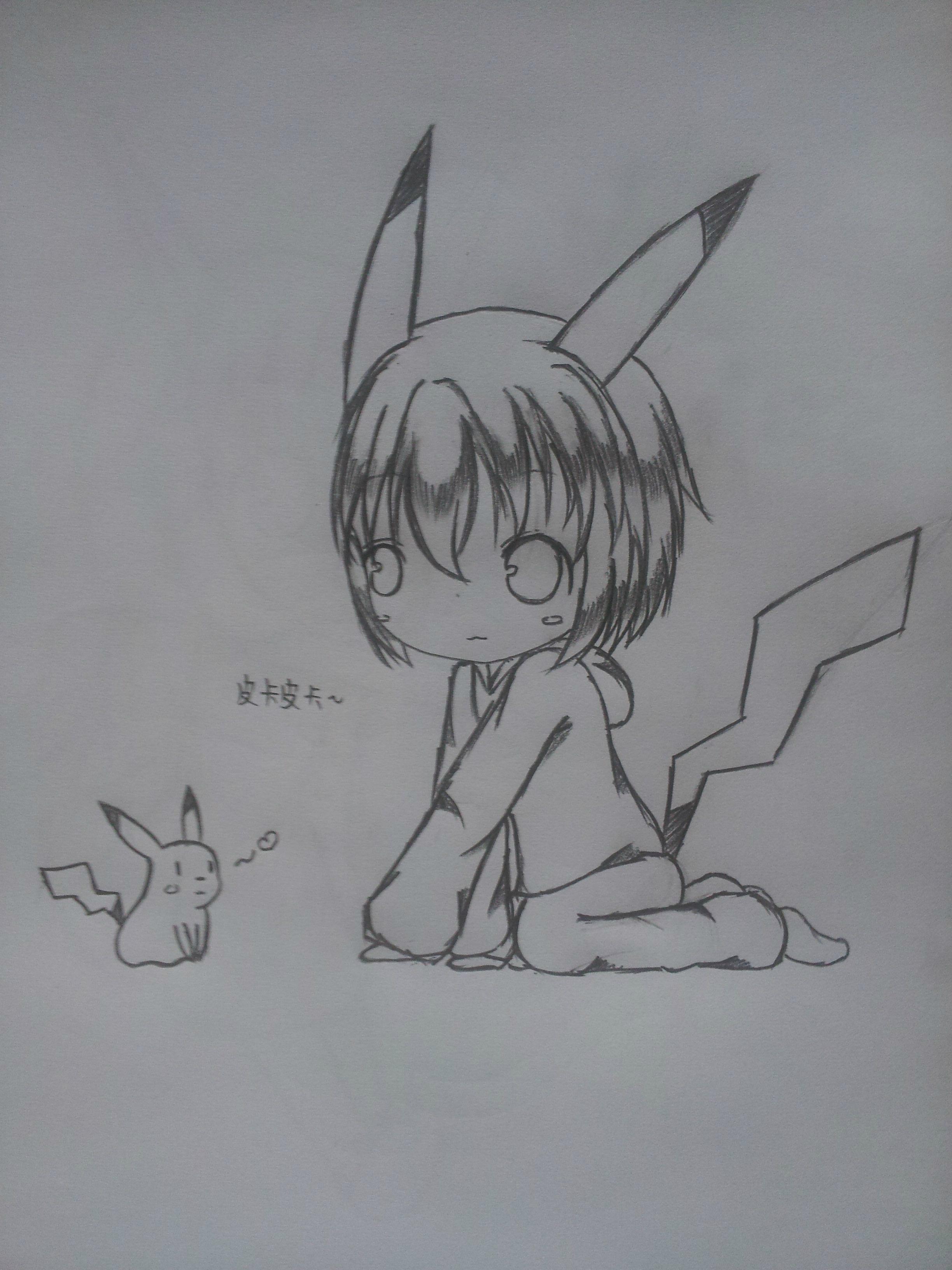铅笔画 手绘 侧面女生