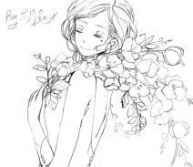 插画女孩1
