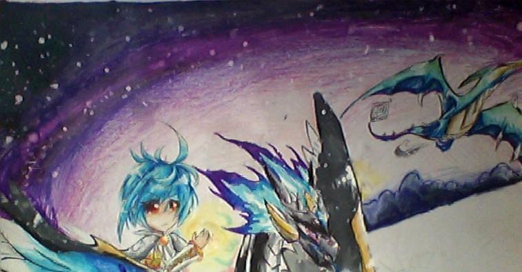 彩笔手绘上色          第5张/共张                现在涂天空.