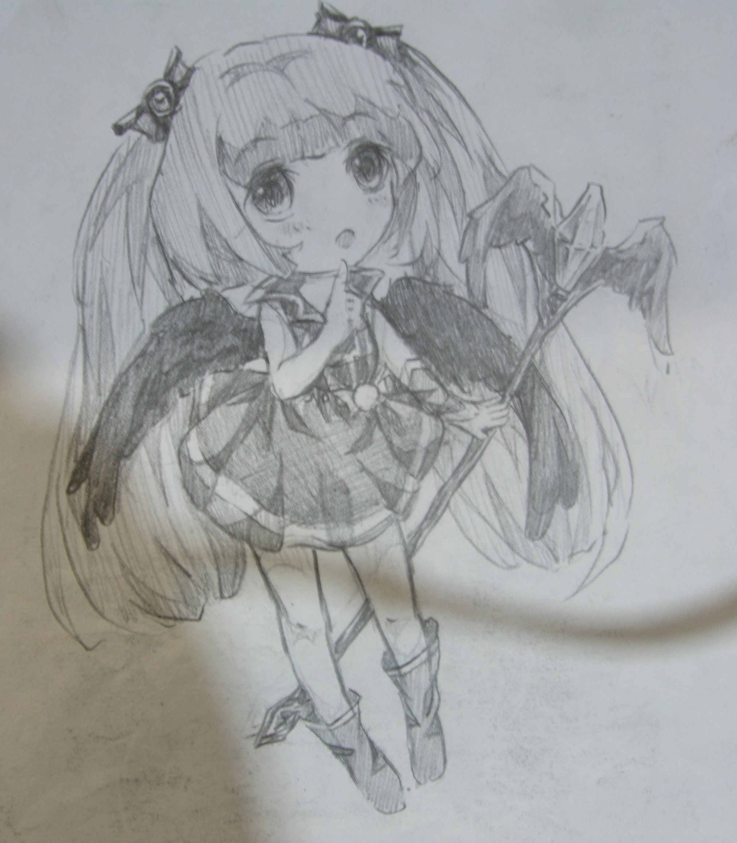 天使恶魔铅笔画