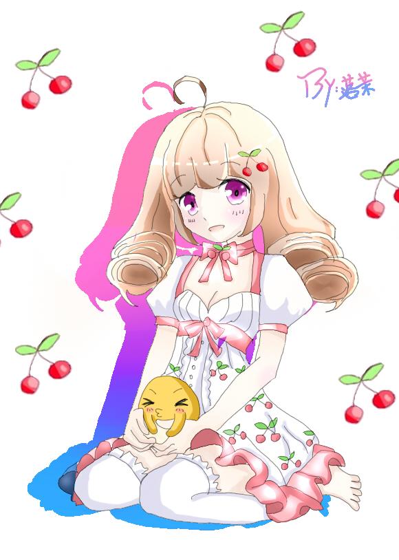 落茉奥比岛板绘秀作品--樱桃萝莉