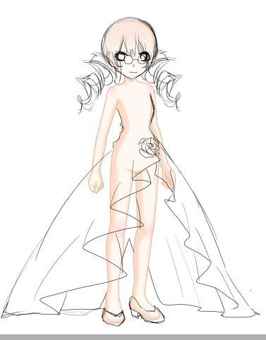 仙气礼服设计手绘图