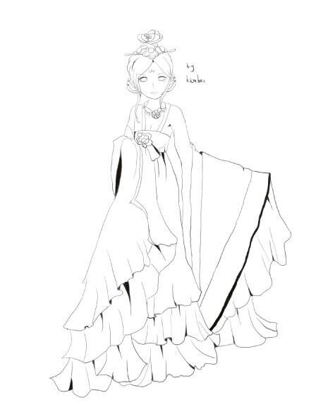 画古代衣服步骤