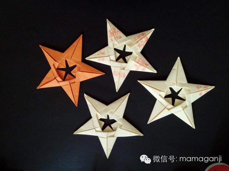 【dl】转:立体的五角星折纸教程