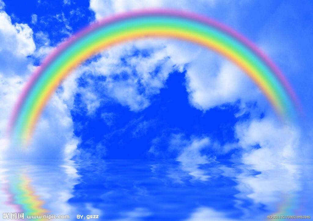 风景彩虹图片头像高清